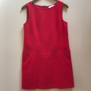 Loft Red Shift Dress Size 4